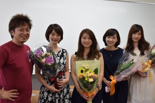 金谷武明、反後花美さん、徳岡良子さん、中澤舞央さん、東都詩歩さん